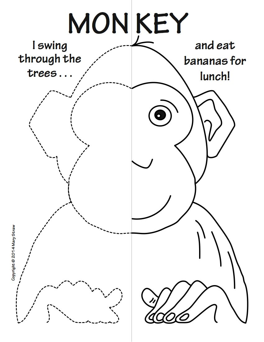 educational coloring pages zoo animals - photo#24