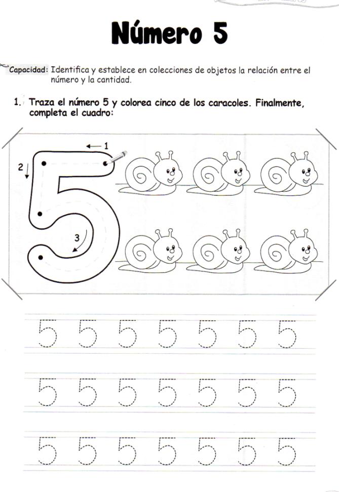 El número 5: 5 años - Material de Aprendizaje | numeros | Pinterest ...