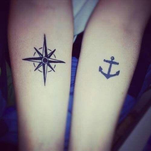 Tatuaje Ancla Y Puntos Cardinales Tatuajes Amigas Compass