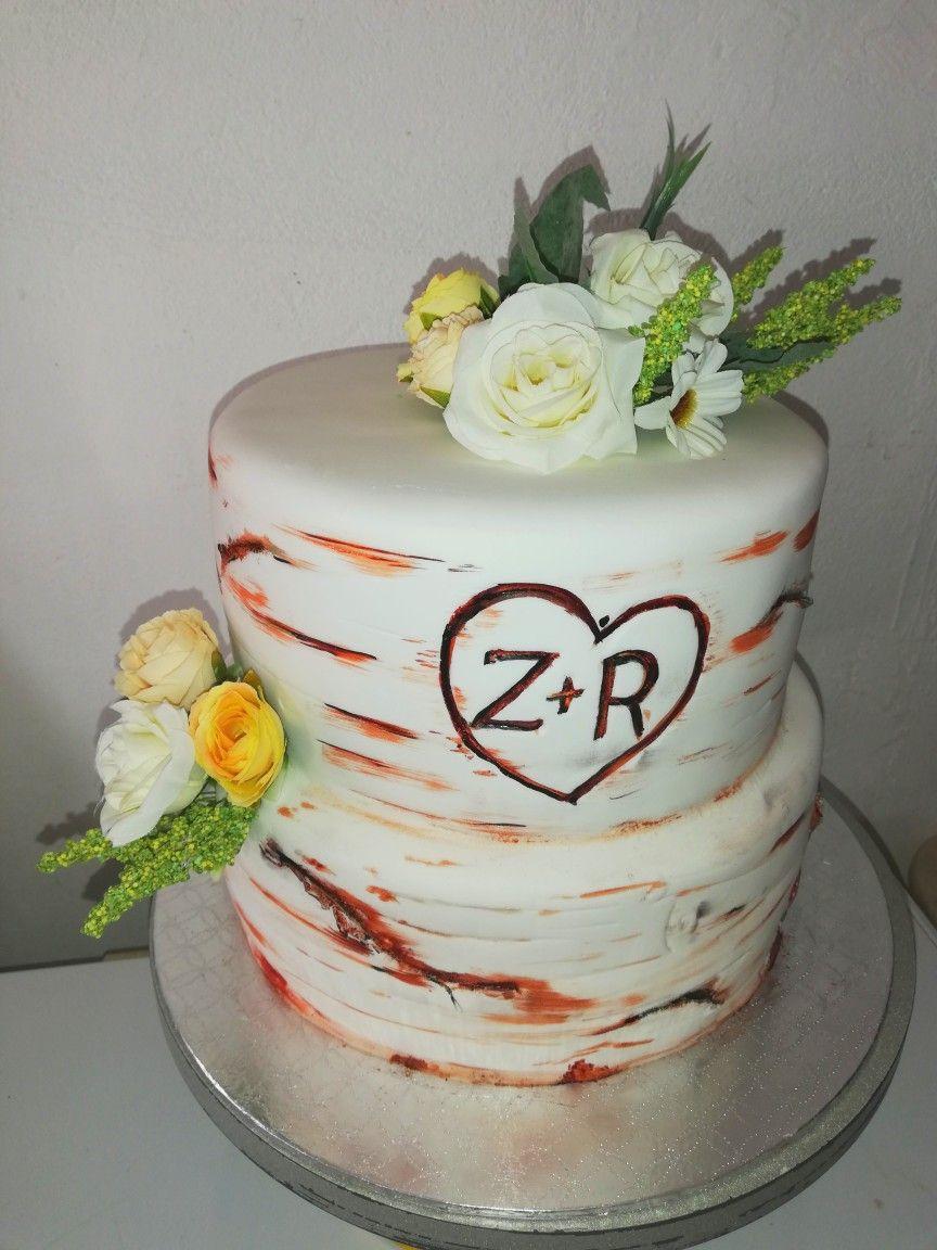 Wedding cake wood effect by Celesté Themed cakes, Cake