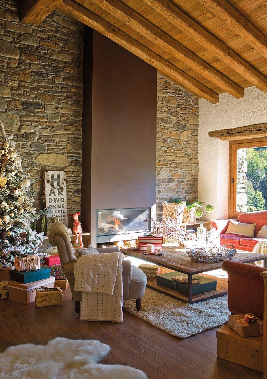 Una navidad de estilo n rdico en la monta a decoraci n navide a pinterest - Casa rural navidad ...