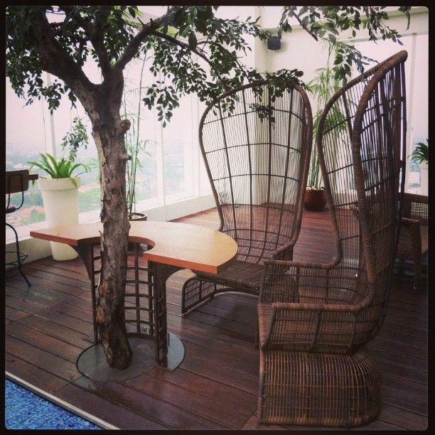 Rattan chair at SLAM #rattan #furniture by... | Wicker Blog  wickerparadise.com
