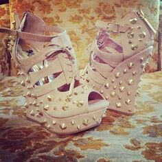 Cute studded wedges