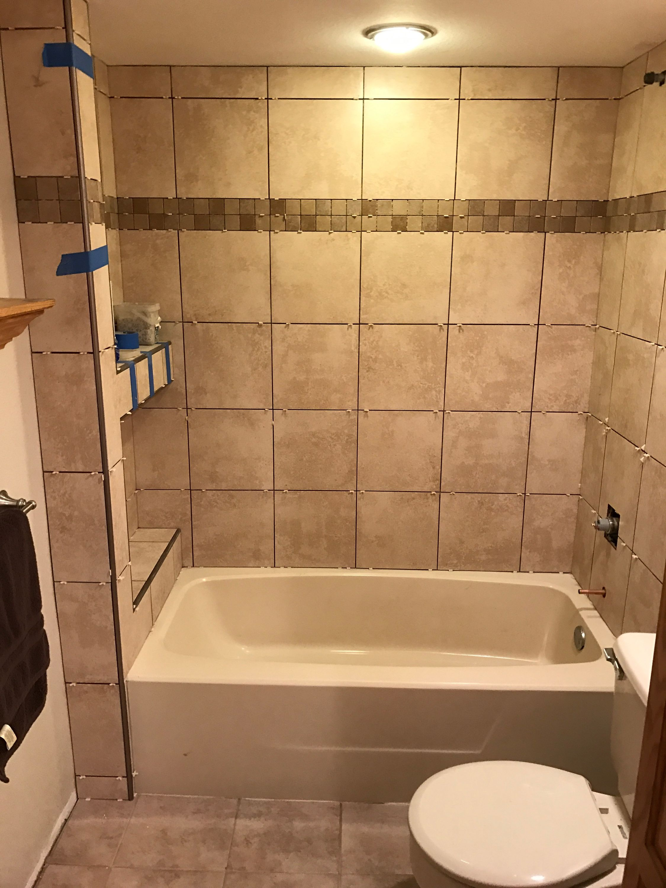 Cordova Beige Lowes Ceramic Tile In 2019 Lowes Bathroom