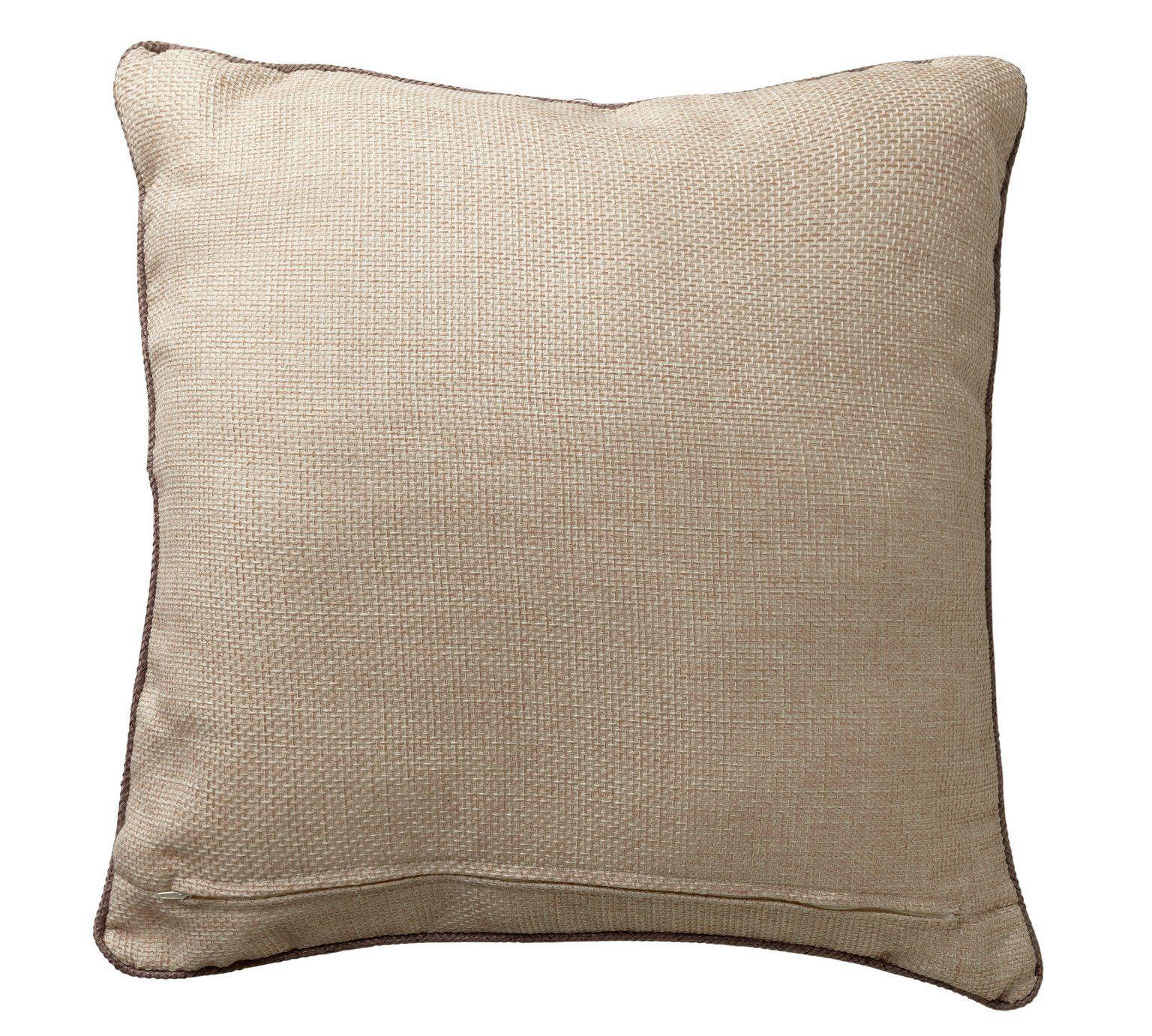 Buy Heart of House Hudson Large Cushion Oatmeal at Argos