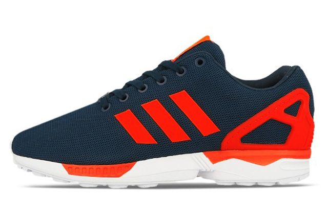 6ce6440811f4 ADIDAS ORIGINALS ZX FLUX (DARK BLUE SOLAR RED)