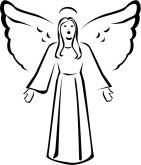 25+ Angel Clipart Free Black And White