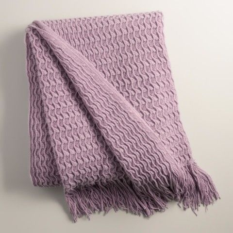 Grape Purple Waffle Throw $29.99