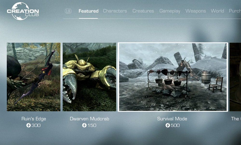 Creation Club brings new content to Skyrim and Fallout 4