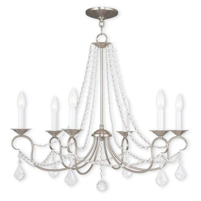 Willa Arlo Interiors Devana 6 Light Candle Style Classic Traditional Chandelier With In 2021 Candle Style Chandelier Traditional Chandelier Decorating On A Budget