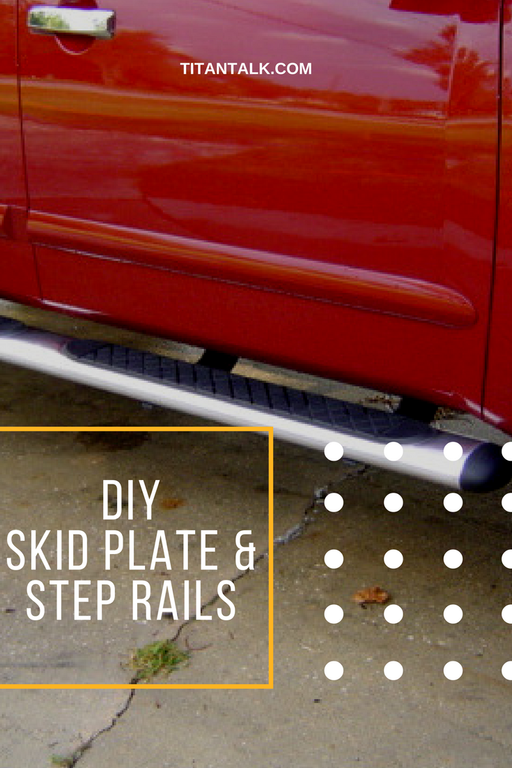 Low cost appearance mod to Nissan Titan OEM skid plate and