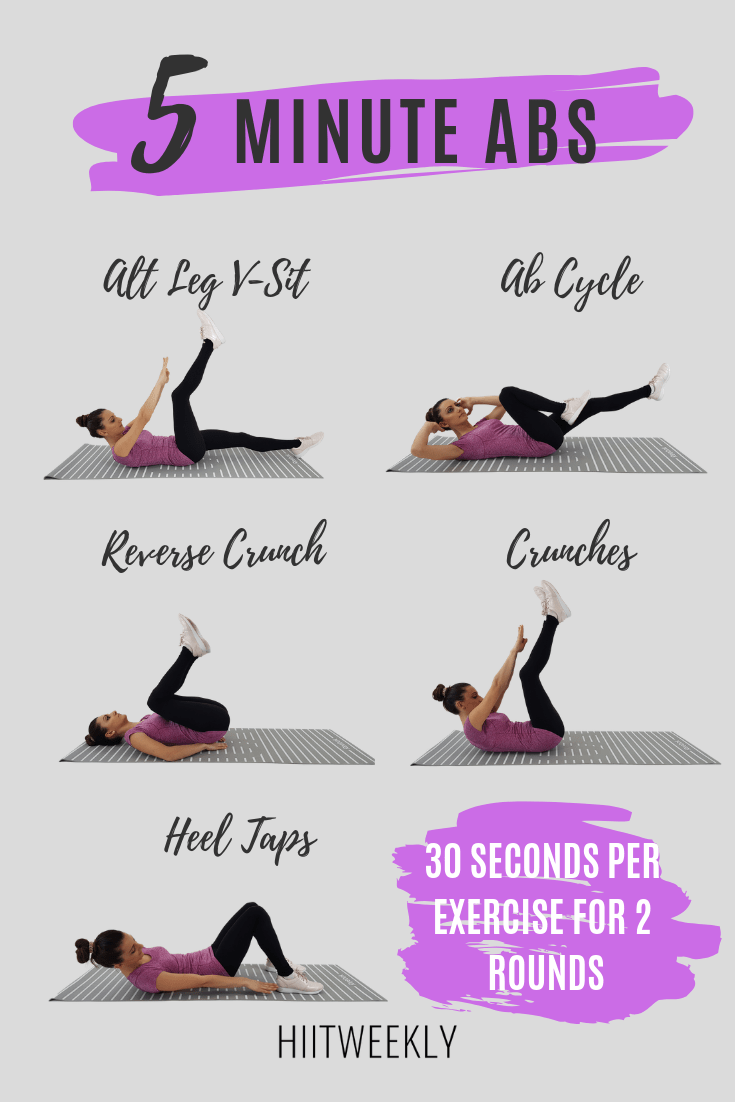 5 Minute Ab Workout For Women - HIITWEEKLY