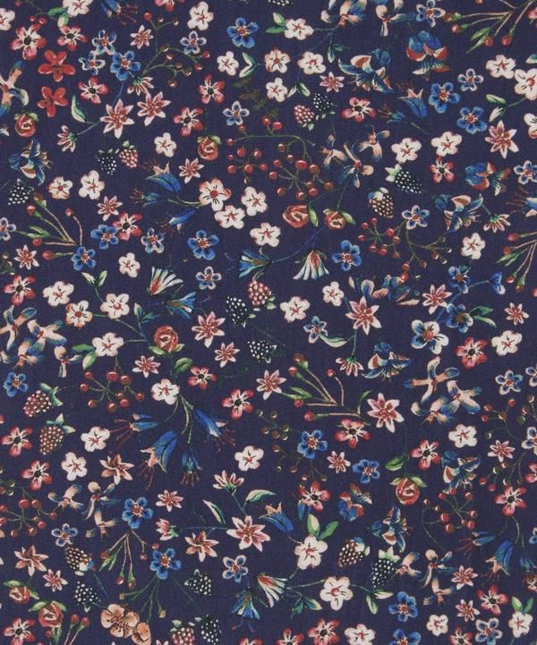 Donna Leigh Tana Lawn Cotton is part of lawn Dress Liberty Fabric - Donna Leigh was inspired by a design from late 1700 by William Kilburn  During this period Kilburn produced many designs for muslin, often with dark, rich grounds and contrasting flowers  Keeping this aesthetic, flowers were hand painted with water colour with a dark ground added later to produce this Liberty Fabrics print  Tana Lawn cotton's distinctive handfeel and translucent softness make it a versatile favourite  Pricing All fabrics are priced per metre length Please note All fabric orders are nonrefundable