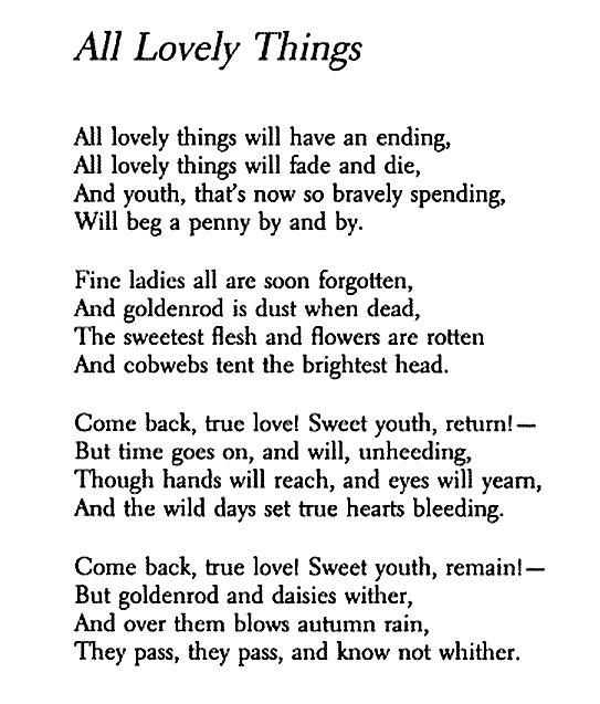 All Lovely Things Conrad Aiken Conrad Aiken Words Quotations
