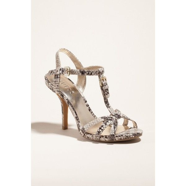 d316166606f Guess Kio High-Heel Sandals Dance the night away in these Guess  glitter-enhanced strappy sandals. The shinny leat .