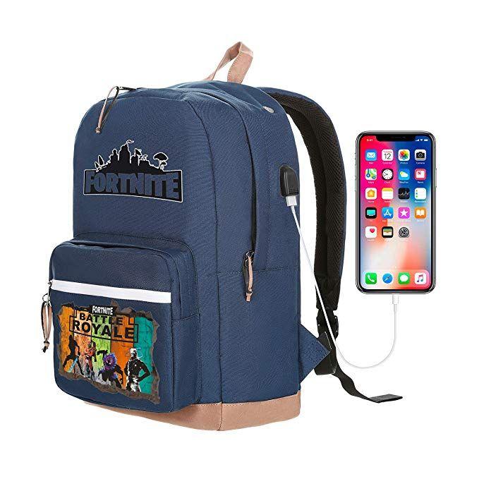 Fortnite Battle Royale Premium Leather Bottom School Bag Notebook