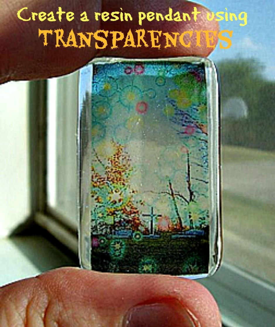 Resin Obsession blog:  Create a resin pendant with your desgins on transparencies