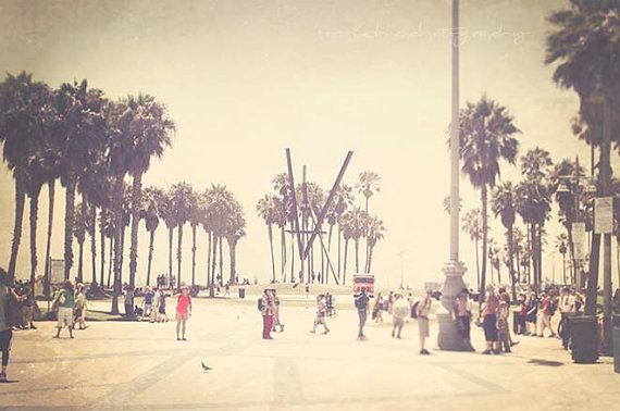 Venice Beach California boardwalk summer by ...