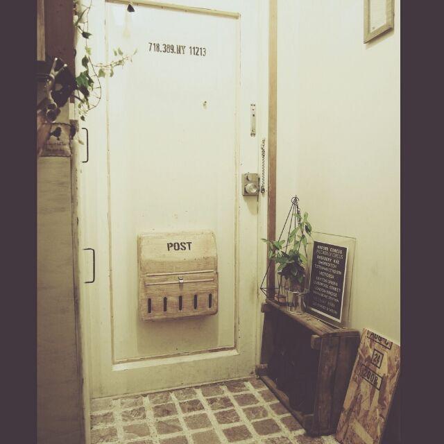 玄関 入り口 レンガはモルタルで めざせn Yブロッコリん めざせn Y