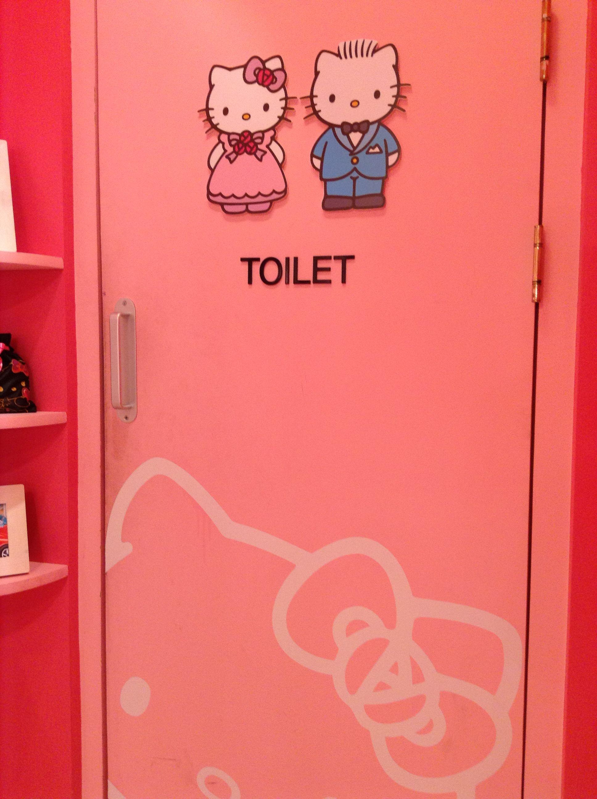 door in hello kitty cafe (Korea)