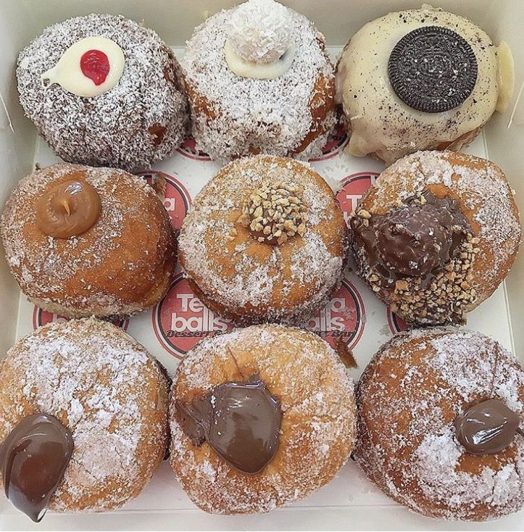 Chocolate Filled Donuts Food Food And Drink Sweets