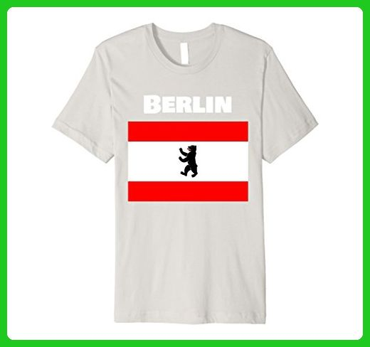 Mens Berlin Bear German Souvenir T Shirt Berlin Symbol Flag Shirt Xl
