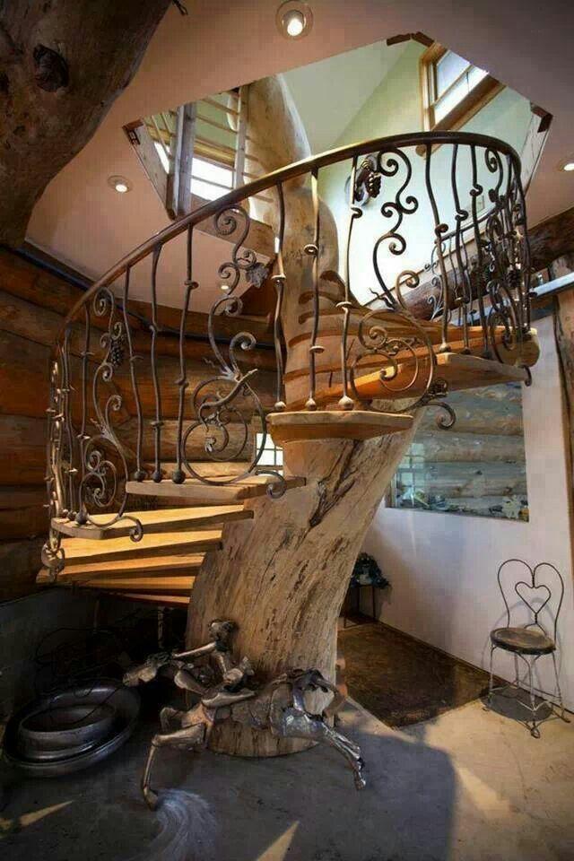 Wrought iron tree stairs...