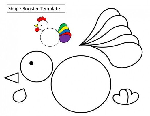 photo regarding Rooster Template Printable identify Printable Chicken Crafts for Young children Printable Hen Crafts
