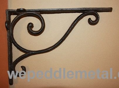 We Peddle Metal Small Cast Iron Shelf Brackets 5 X 6 3 4 B 5
