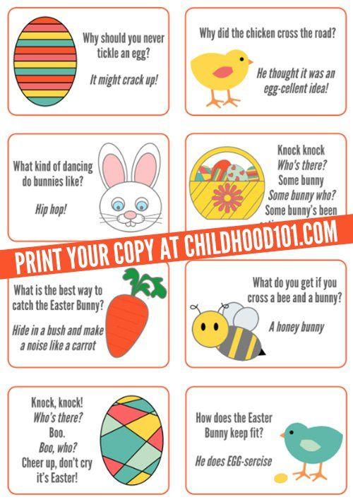 Easter Jokes for Kids | Printable | Childhood101