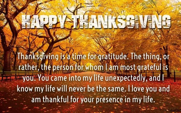 cute happy thanksgiving day love quotes   Happy ...