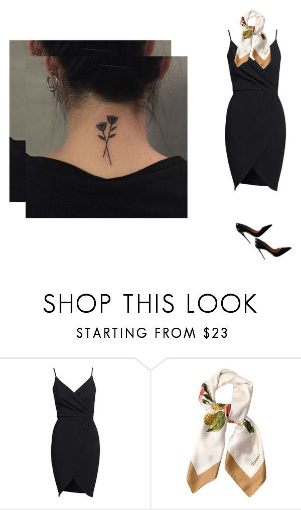 """""""please, i'll be yours"""" by gothicplague ❤ liked on Polyvore featuring Chanel and Christian Louboutin"""