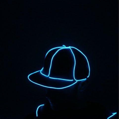 Light Up Snapback Hat. el wire burning man edc glow rave on Etsy ...