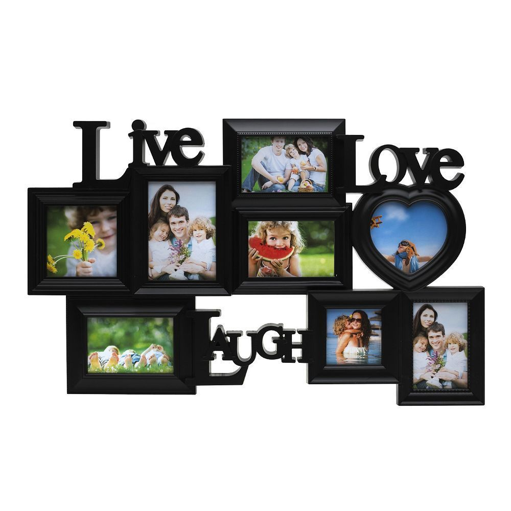 Melannco 8-Opening \'\'Live Laugh Love\'\' Collage Frame, Black | Products
