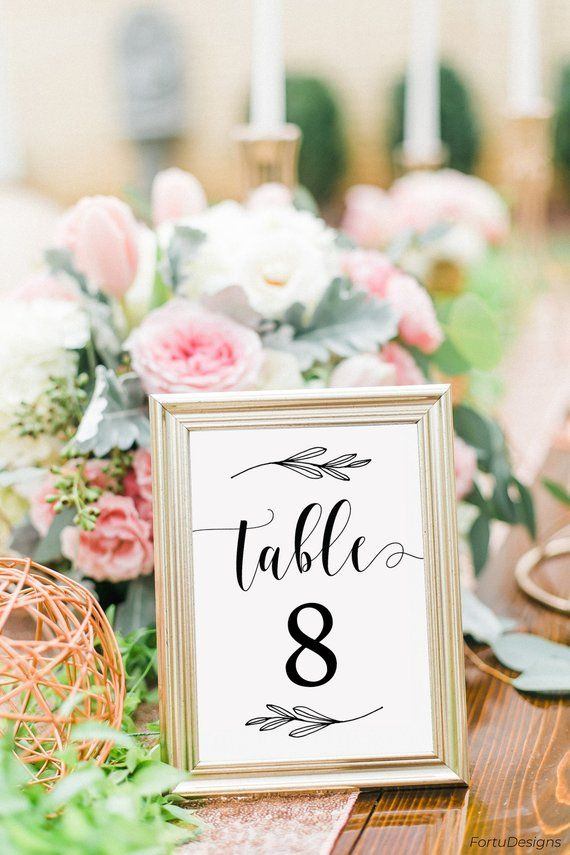 Rustic table numbers cards Printable numbers Wedding table numbers