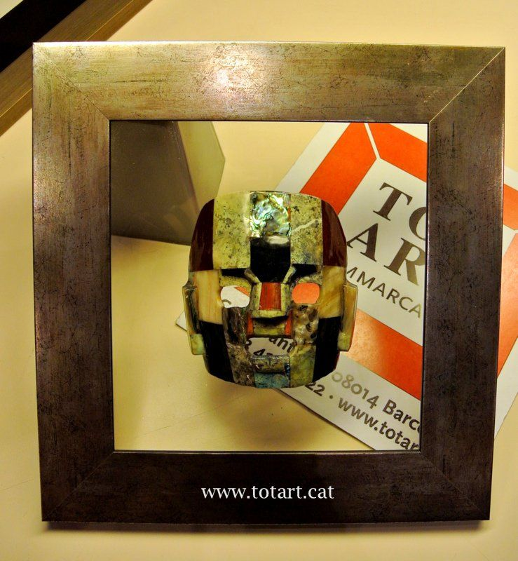 Marco para mascara mejicana tienda de enmarcaci n totart for Enmarcar cuadros en casa
