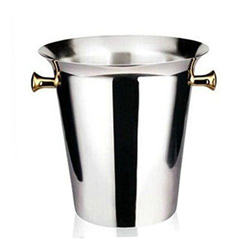 Stainless Steel Ice Bucket Wine Champagne Buckets Barrel of Beer Ice Pail