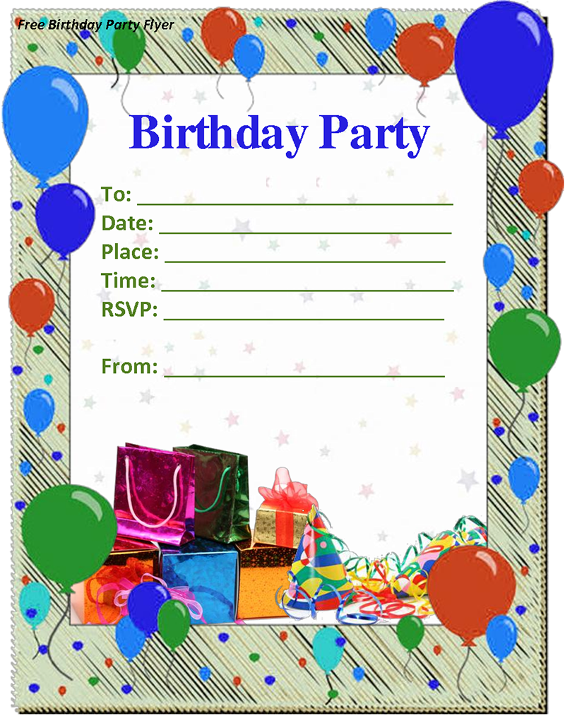 Free Birthday Invitation Templates For Word Template Birthday