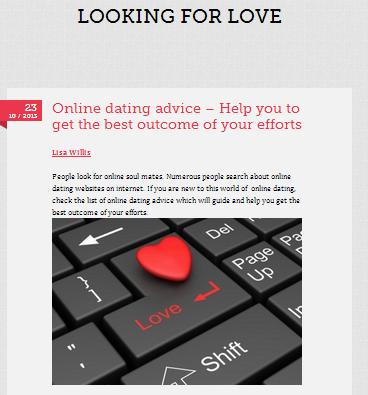 Web dating advice