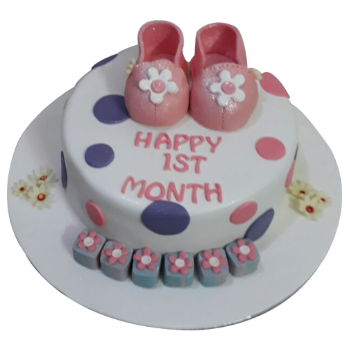 Baby Girl First Birthday Cake Cake online Birthday cakes and