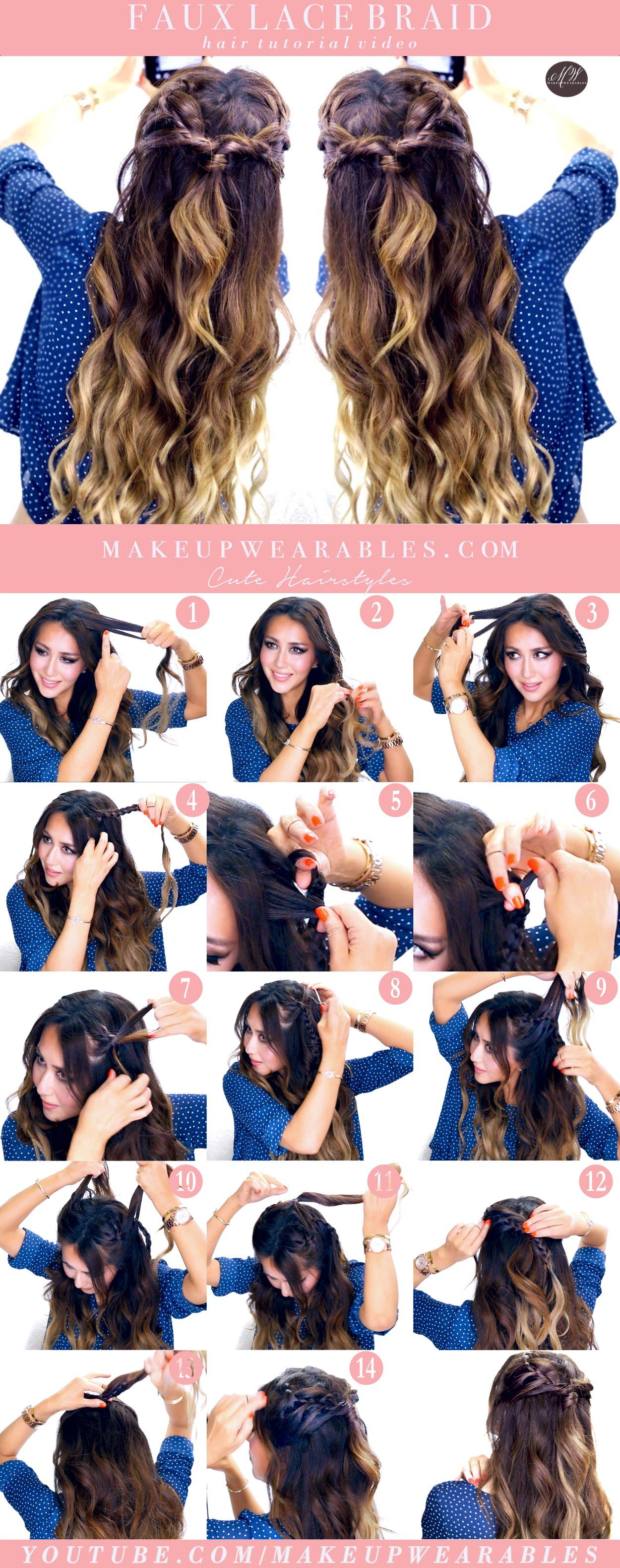 Minute easy spring hairstyles fake a lace headband braid hair