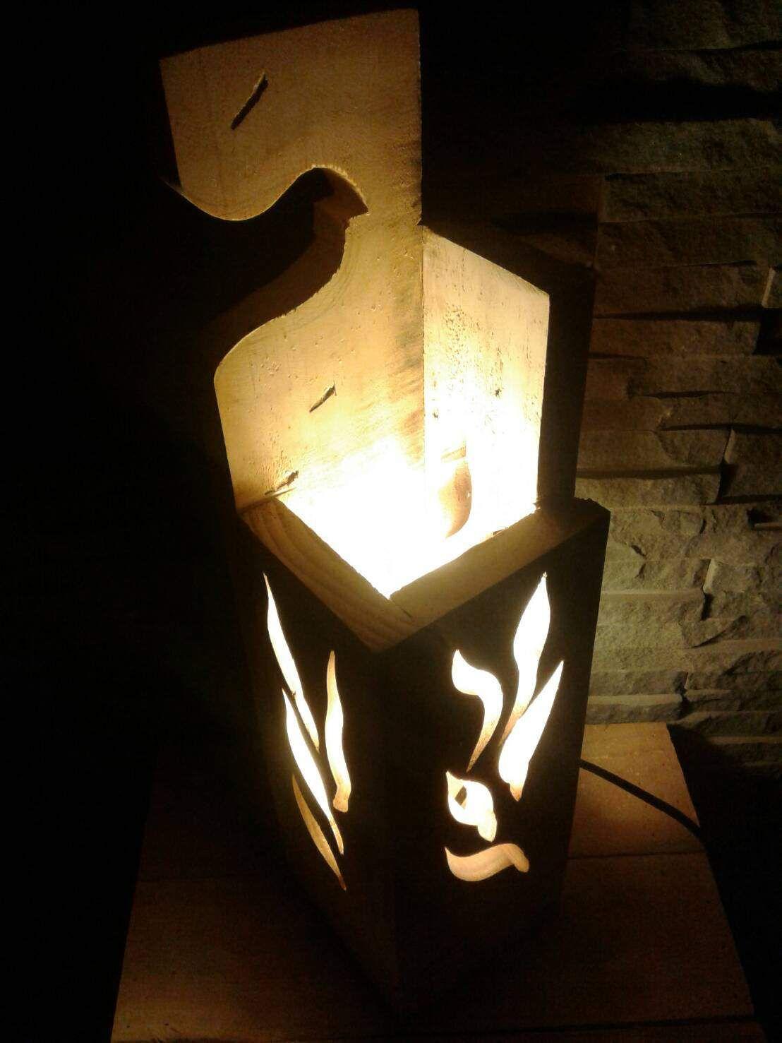 Stylish Jigsaw Pallet Wood Lamp Wood Lamps Lamp Pallet Light