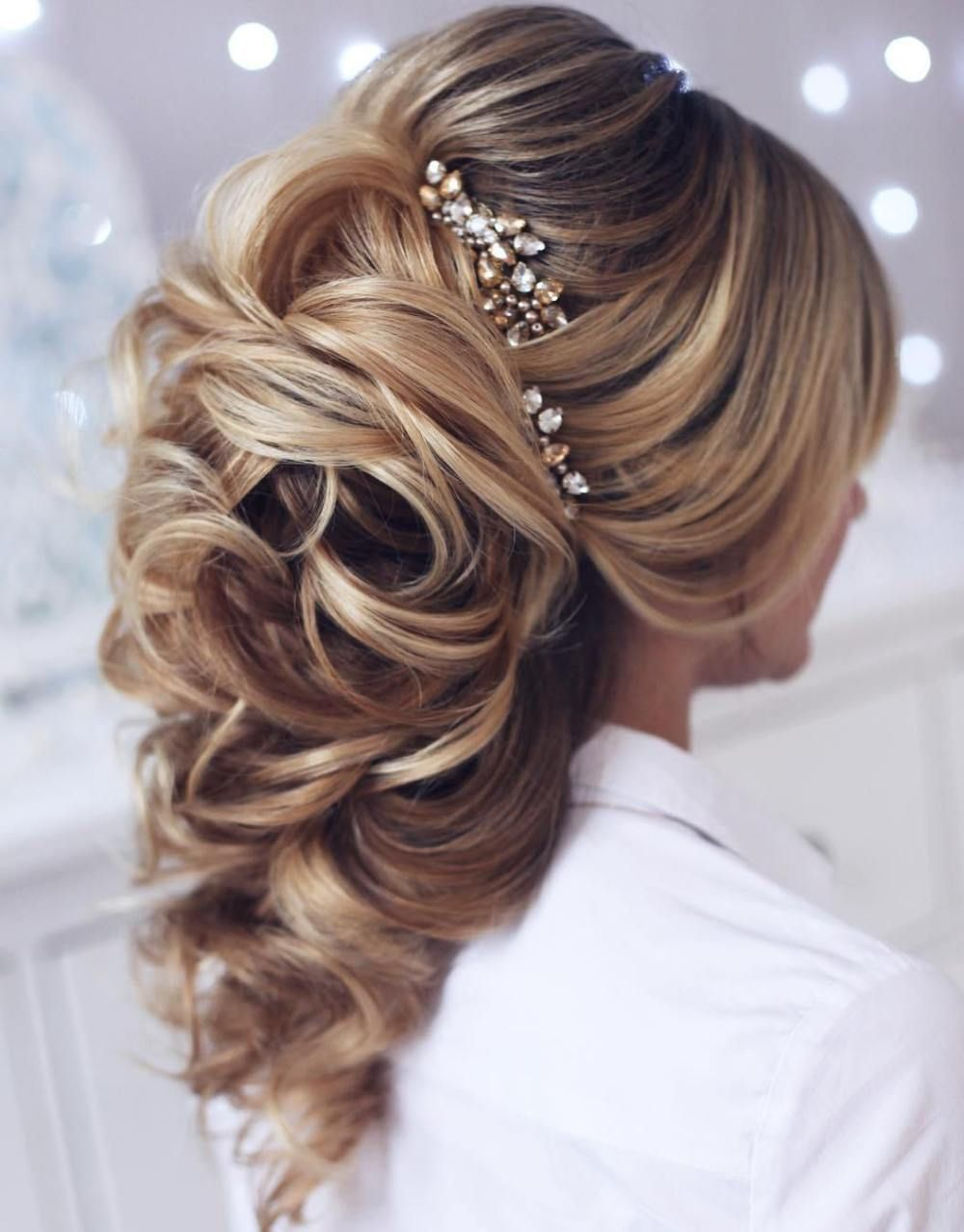 40 gorgeous wedding hairstyles for long hair | bouffant hair