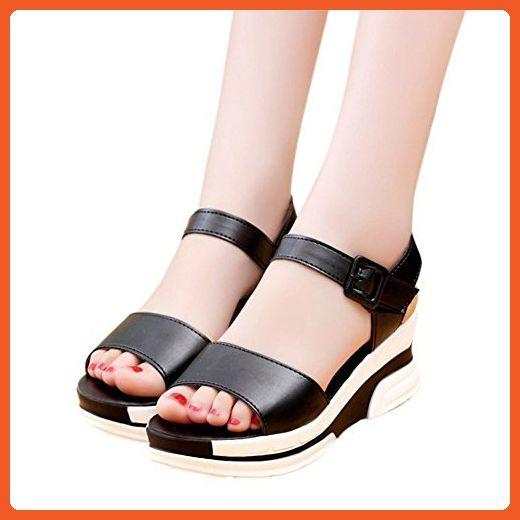 4d72c0d5c9b Sandals For Women Flat Shoes Peep-toe Low Shoes Roman Sandals Ladies Flip  Flops (4.5