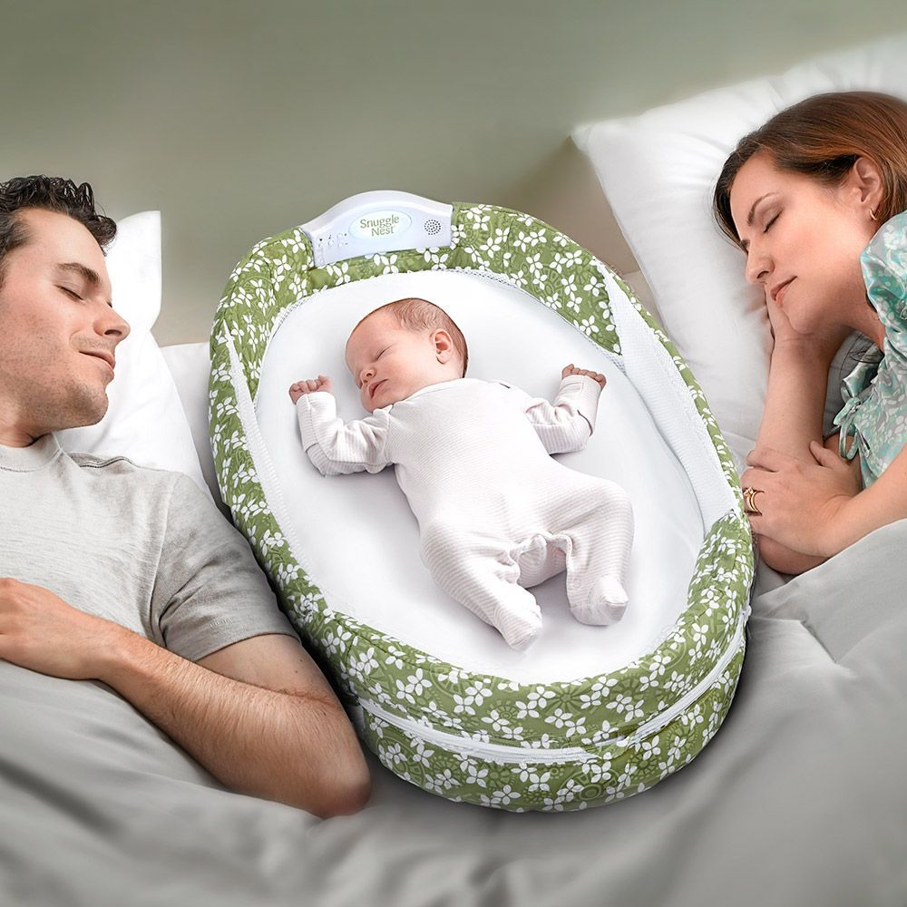 Baby bed hooks to parents bed - Three In The Bed With The Snuggle Nest Surround