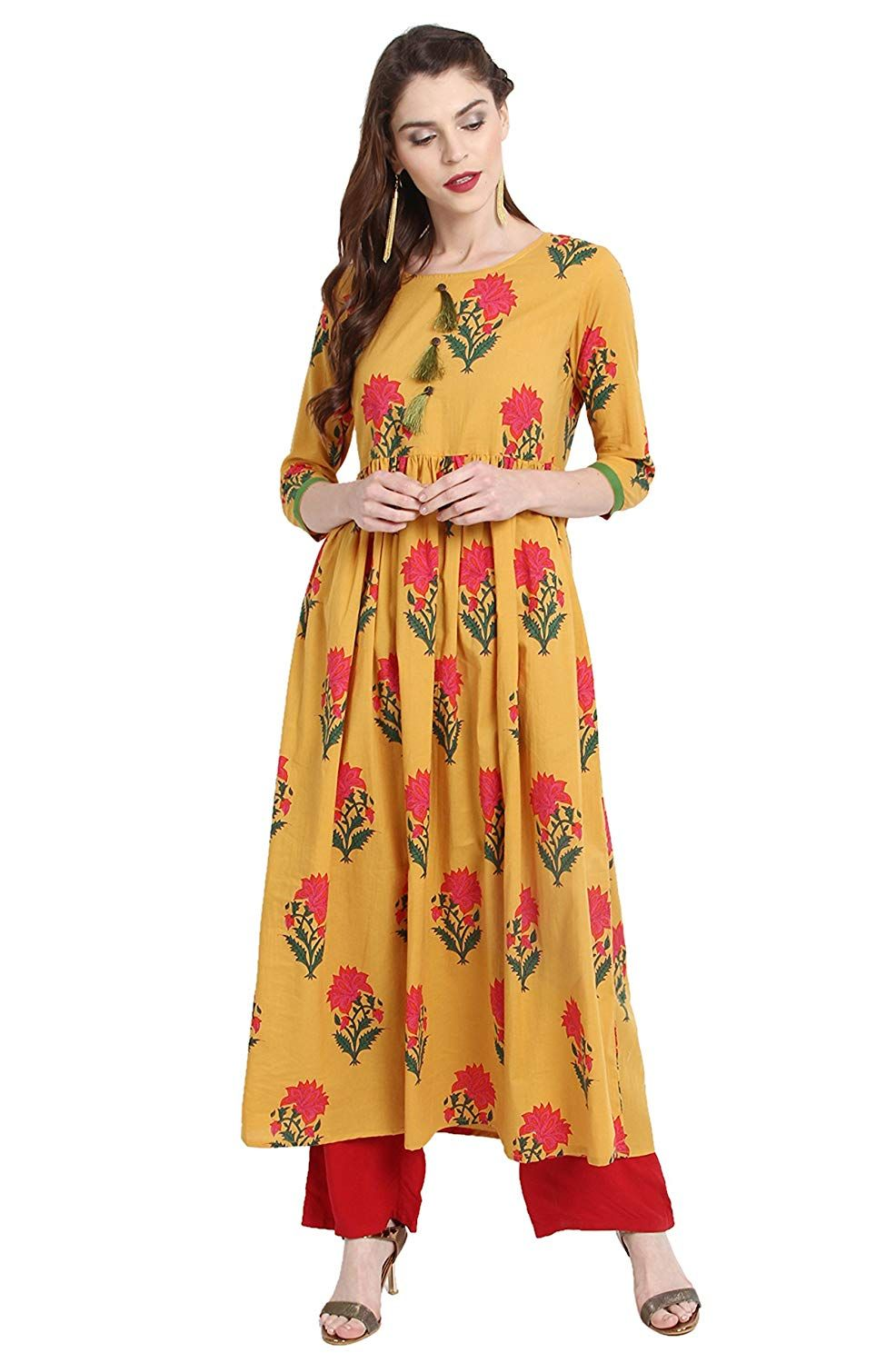 5edaaf8af Janasya Women's Cotton a-line Kurta: Amazon.in: Clothing & Accessories