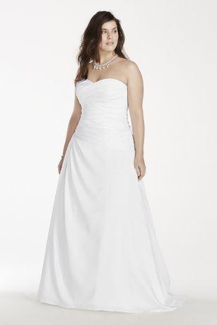 A Line Plus Size Wedding Dress With Dropped Waist Style 9WG3743