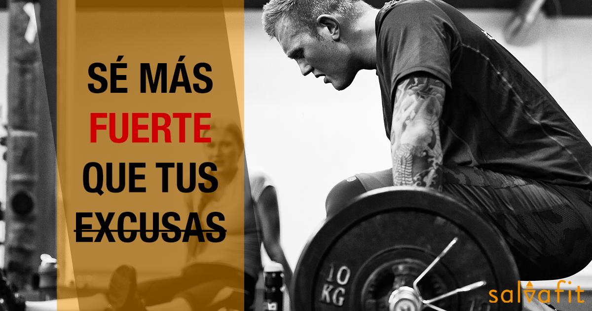 Nosotros ya sabemos que eres más FUERTE que tus excusas, ¿y tú?  No cedas el protagonismo, TU tienes el control. #Fitness #Motivación #Workout #Gym