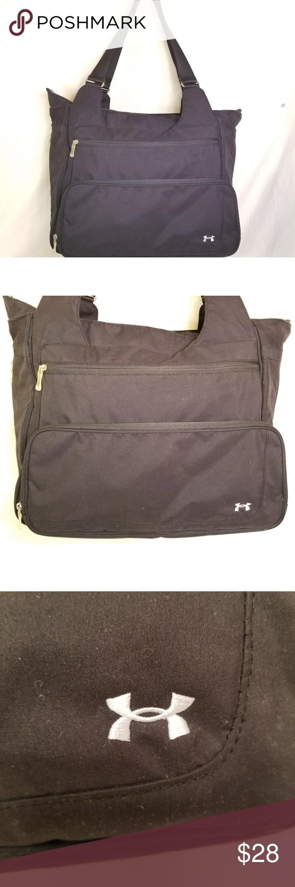 Under Armor laptop messenger bag black nylon excellent condition Men s Under  Armour laptop   travel bag. 19