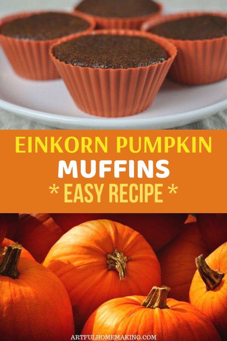Einkorn Pumpkin Muffins #pumpkinmuffins
